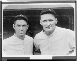 "Walter Johnson and battery-mate Herold ""Muddy"" Ruel"