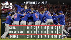 North Siders win the 2016 World Series